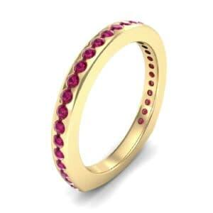 Squared Shank Ruby Ring (0.58 Carat)