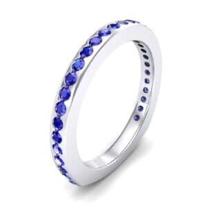 Squared Shank Blue Sapphire Ring (0.58 Carat)