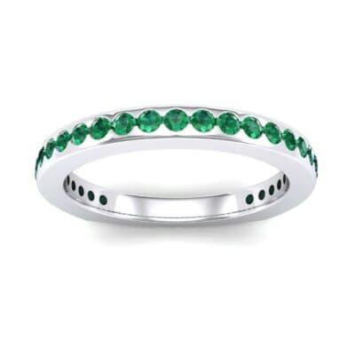 Squared Shank Emerald Ring (0.58 Carat)