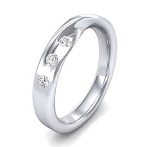 Single Twist Flush-Set Diamond Ring (0.14 Carat)