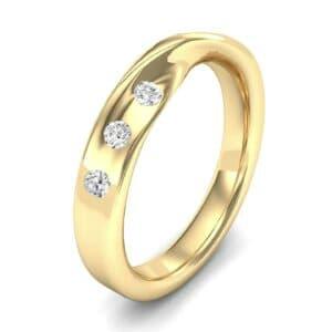 Single Twist Flush-Set Diamond Ring (0.14 Carat)