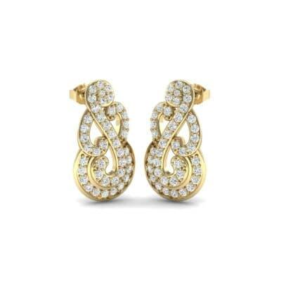 Pave Clef Diamond Earrings (0.84 Carat)