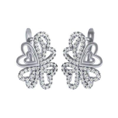 Clover Hearts Diamond Earrings (1.09 Carat)
