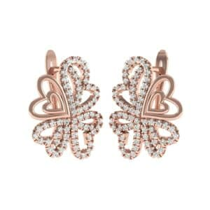 Clover Hearts Diamond Earrings (1.09 Carat)