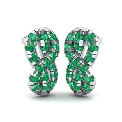 Infinity Knot Emerald Earrings (3.27 Carat)