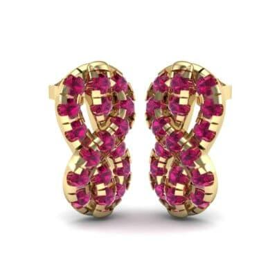 Infinity Knot Ruby Earrings (3.27 Carat)