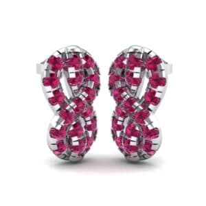 Infinity Knot Ruby Earrings (3.27 Carat)