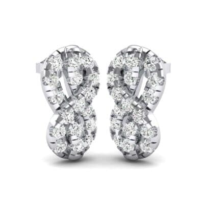 Infinity Knot Diamond Earrings (1.19 Carat)