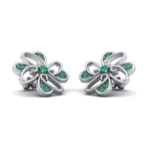 Dancing Flower Emerald Earrings (0.53 Carat)