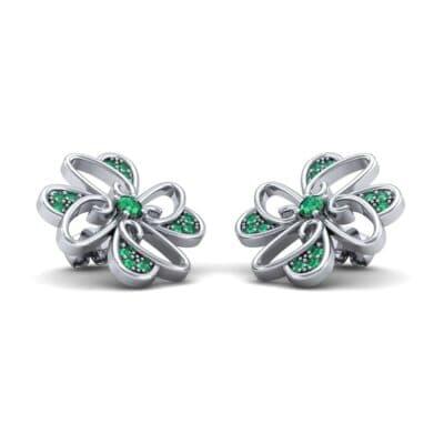 Dancing Flower Emerald Earrings (0.53 Carat)