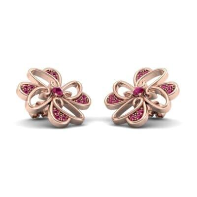 Dancing Flower Ruby Earrings (0.53 Carat)
