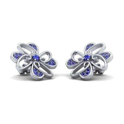 Dancing Flower Blue Sapphire Earrings (0.53 Carat)