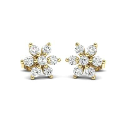 Flower Diamond Cluster Earrings (0.42 CTW) Perspective View