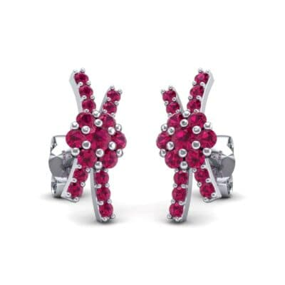 Ribbon Ruby Earrings (0.55 Carat)