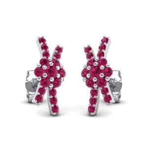 Ribbon Ruby Earrings (0.55 Carat)