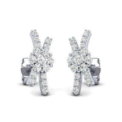 Ribbon Diamond Earrings (0.32 CTW) Perspective View