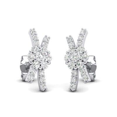 Ribbon Diamond Earrings (0.36 Carat)