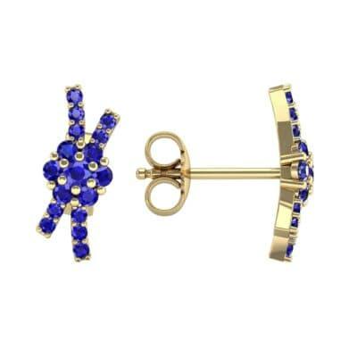 Ribbon Blue Sapphire Earrings (0.45 CTW) Top Dynamic View