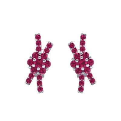Ribbon Ruby Earrings (0.45 CTW) Side View