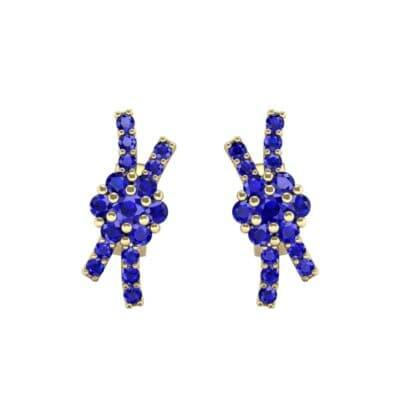 Ribbon Blue Sapphire Earrings (0.45 CTW) Side View
