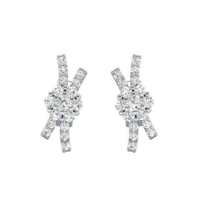 Ribbon Diamond Earrings (0.32 CTW) Side View