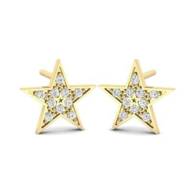 Pave Star Diamond Earrings (0.17 Carat)