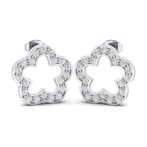 Pave Flora Diamond Earrings (0.34 Carat)