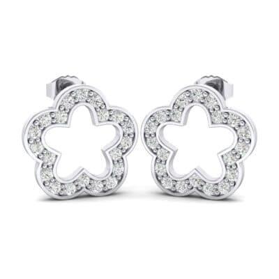 Pave Flora Diamond Earrings (0.34 Carat)