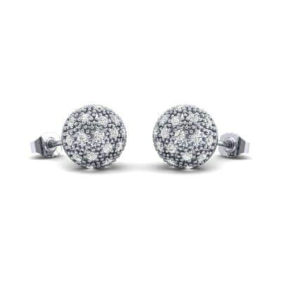 Pave Ball Diamond Earrings (0.55 Carat)