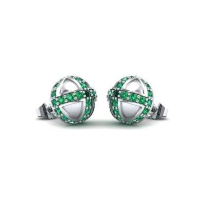 Royal Dome Emerald Earrings (0.82 Carat)
