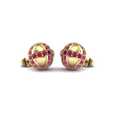 Royal Dome Ruby Earrings (0.82 Carat)