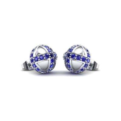 Royal Dome Blue Sapphire Earrings (0.82 Carat)