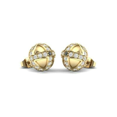Royal Dome Diamond Earrings (0.64 CTW) Perspective View