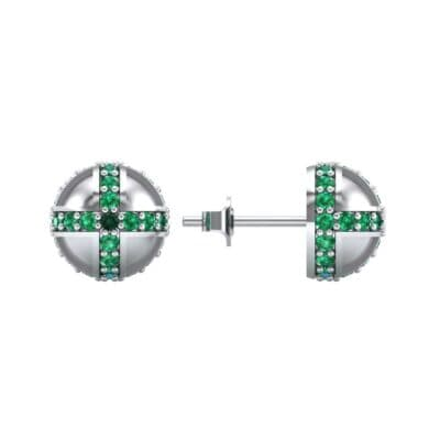 Royal Dome Emerald Earrings (0.82 CTW) Top Dynamic View