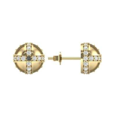 Royal Dome Diamond Earrings (0.64 CTW) Top Dynamic View