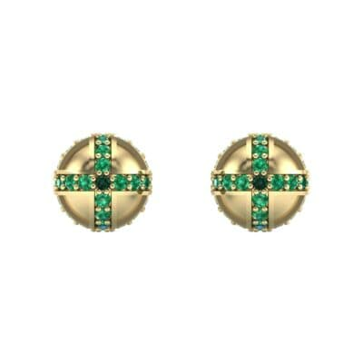 Royal Dome Emerald Earrings (0.82 CTW) Side View