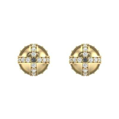 Royal Dome Diamond Earrings (0.64 CTW) Side View