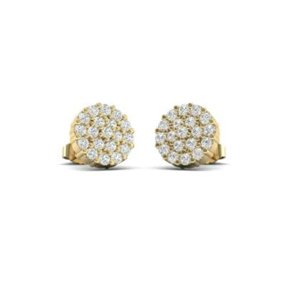 Round Diamond Cluster Earrings (0.61 Carat)