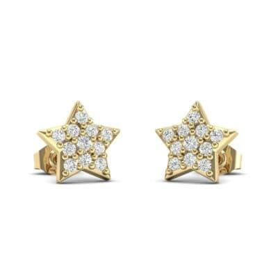 Pave Star Diamond Earrings (0.2 Carat)