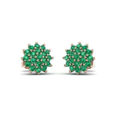 Classic Emerald Cluster Earrings (1.14 Carat)