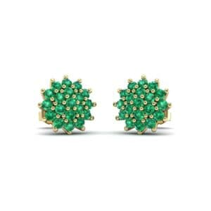 Classic Emerald Cluster Earrings (1.14 Carat)