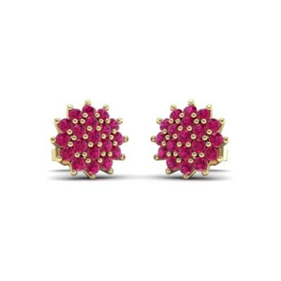 Classic Ruby Cluster Earrings (1.14 Carat)