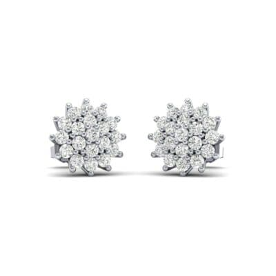 Classic Diamond Cluster Earrings (0.86 Carat)