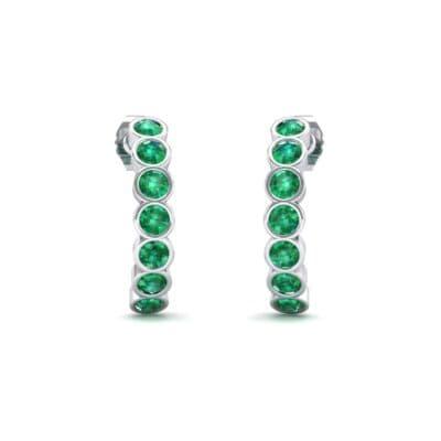 Seven-Stone Bubble Emerald Earrings (1.35 Carat)