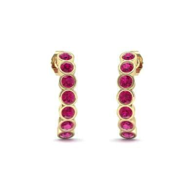 Seven-Stone Bubble Ruby Earrings (1.35 Carat)