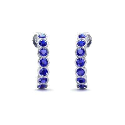 Seven-Stone Bubble Blue Sapphire Earrings (1.35 Carat)