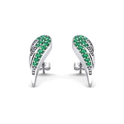 Angel Wing Emerald Earrings (0.43 Carat)