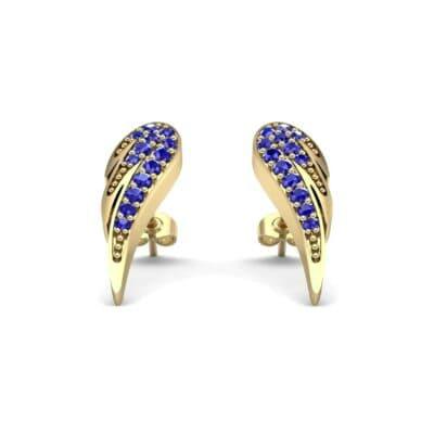 Angel Wing Blue Sapphire Earrings (0.43 Carat)
