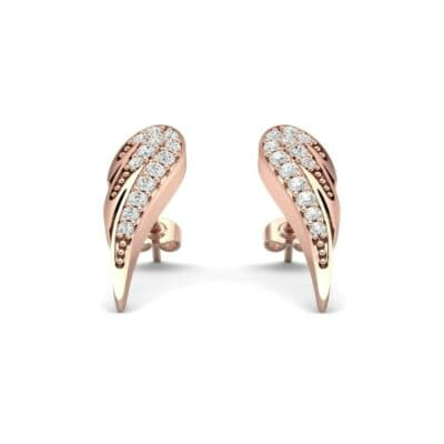 Angel Wing Diamond Earrings (0.34 CTW) Perspective View