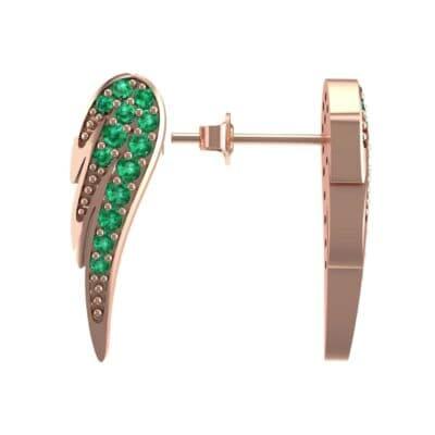 Angel Wing Emerald Earrings (0.43 CTW) Top Dynamic View